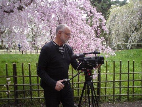 Folke Johansson filmar i Kyoto
