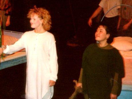 Jag och Lee i applådtack på Nationalteatern 1987