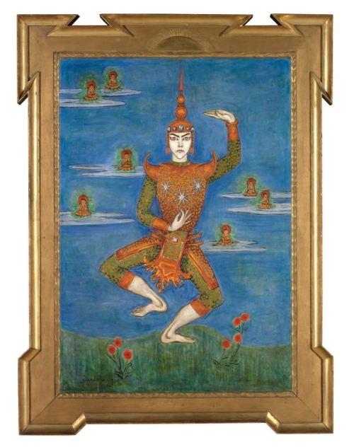 Nils Dardels målning av Jean Börlin i en siamesisk dans